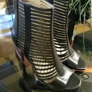 Michael Kors Open Toe Caged Booties - Odelia High